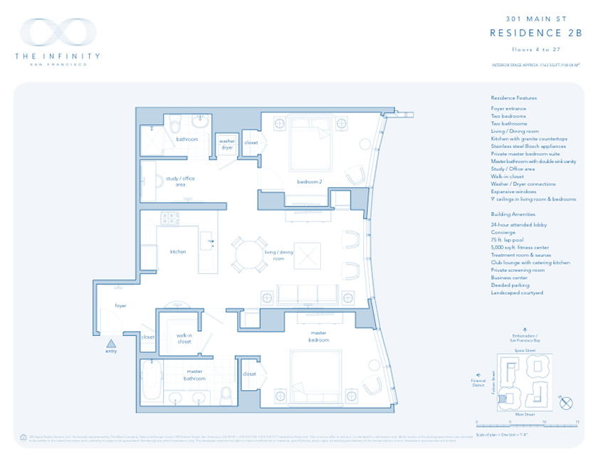 Infinity Tower San Francisco Floor Plans