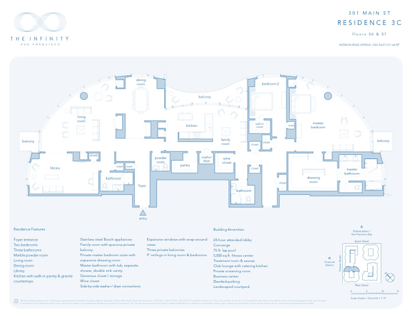 San Francisco Towers Floor Plans