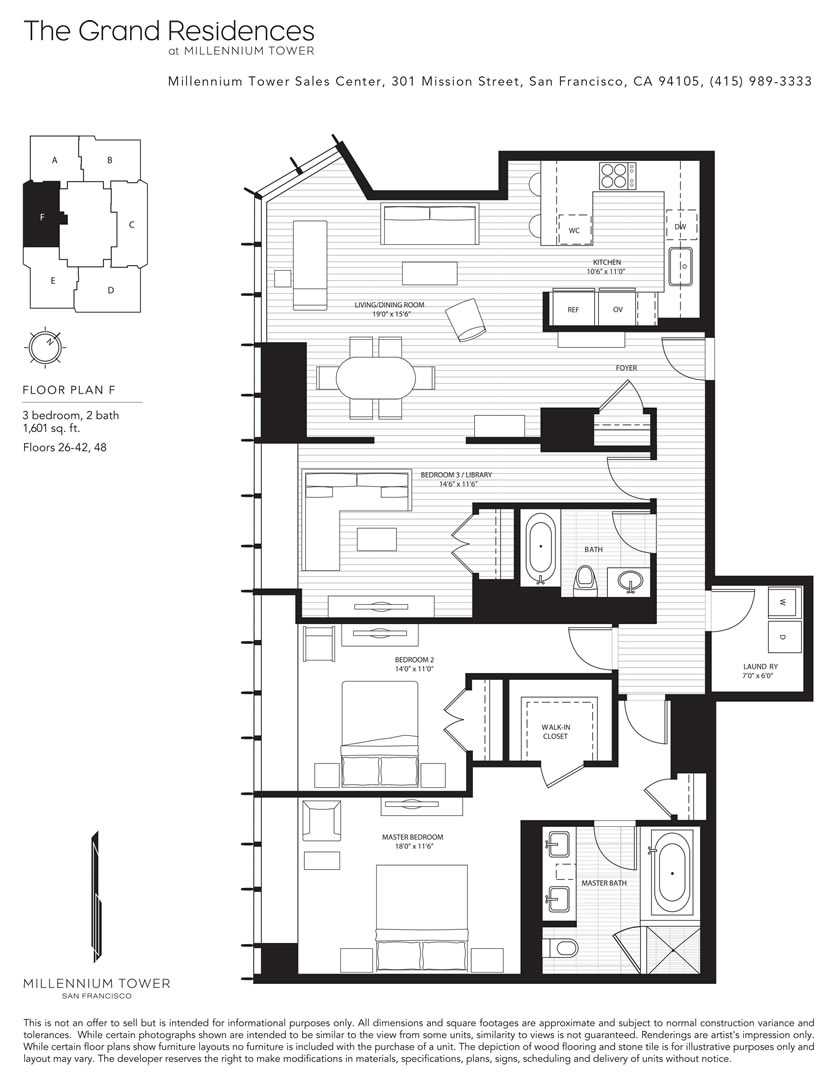 Infinity building san francisco floor plans for Floor design sf
