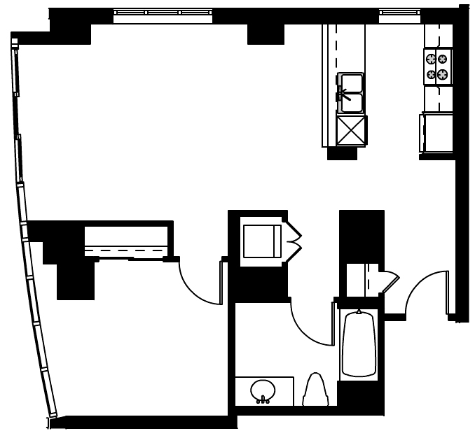 333 1st 405 Floor Plan Skybox Realty