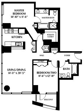 425 1st 2106 Floor Plan Skybox Realty